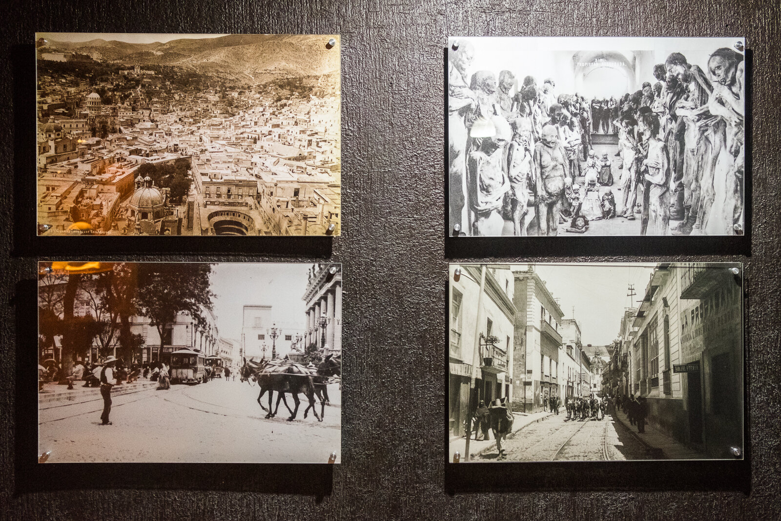 Historical photos (circa early 1900s) of this part of Guanajuato from the Museo de las Momias