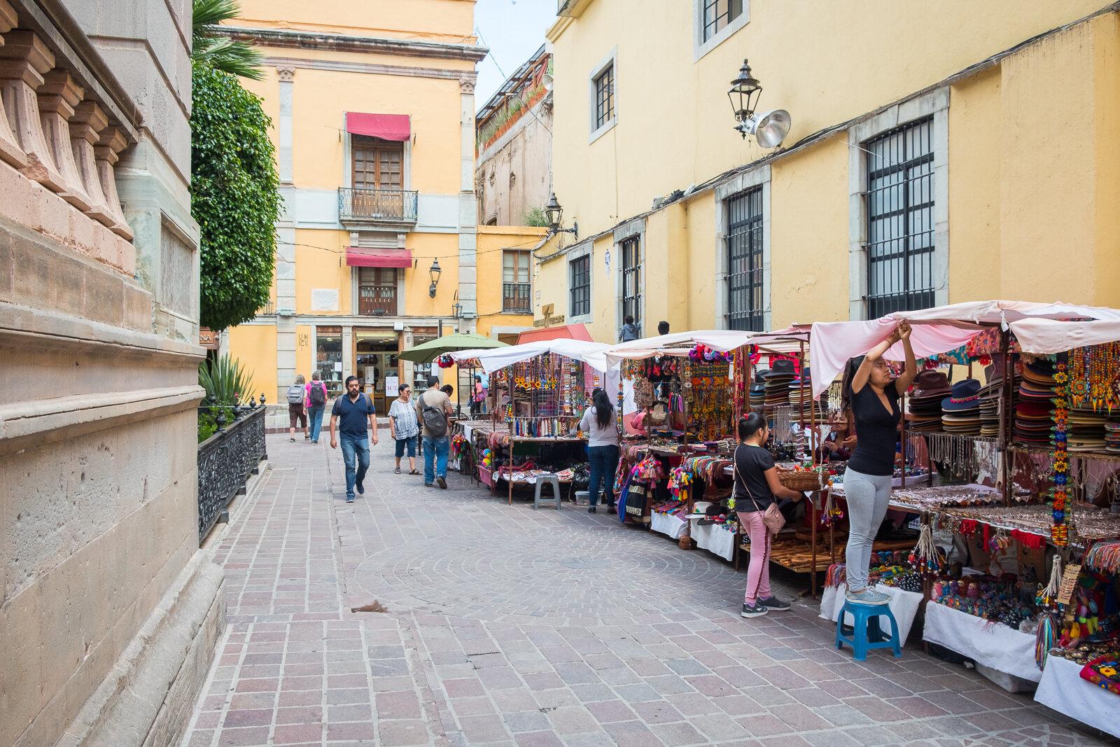 Colorful vendor stalls