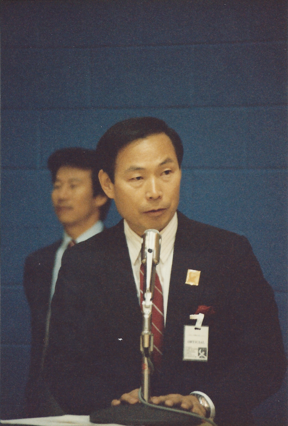 0157 Central Connecticut State University Tournament - Tournament Chairman Moo Yong Lee 1987-09-26.jpg