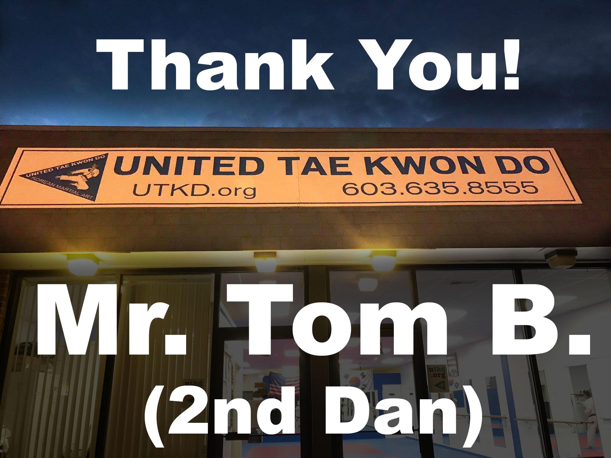 Mr. Tom B., 2nd Dan