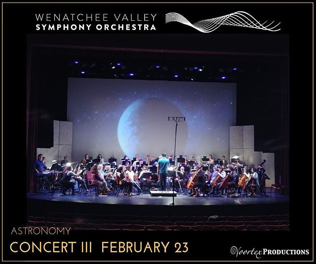 ALMOST SOLD OUT! our third concert ASTRONOMY is this Saturday, 7pm at the @numericapac . Wenatchee Valley Appleaires women's Chorus will be there, as well as @charleyvoorhis of @voortexproductions with the most epic background to the Planets and our guest musician- flutist Hal Ott, professor of flute at @cwu_music Department.  If you didn't get your tickets yet, go to link in bio.