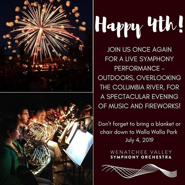 Join us for the best July 4th event around! Our annual Independence Day concert! Symphony + Fireworks = Guaranteed Joy 🎇🎆