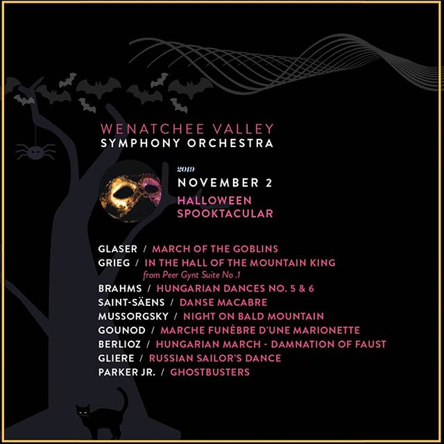 Our second concert of season 19-20- Halloween Spooktacular will be on November 2, 2019, 7pm at the @numericapac ! In Halloween Spooktacular, we feature awesome and frightful music from composers including: Grieg, Saint-Säens, Berlioz, Gound, and Gliere. This is a great concert for the whole family. Please come in costume for this eerie and sinister event! for more information go to link in bio🍁🍂🎃