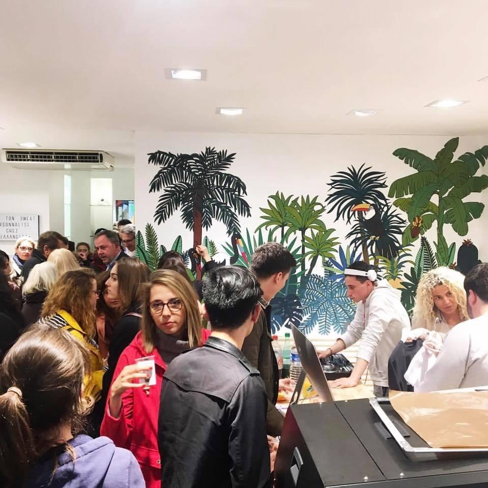 La boutique lors de l'inauguration... Pleine de créativité !