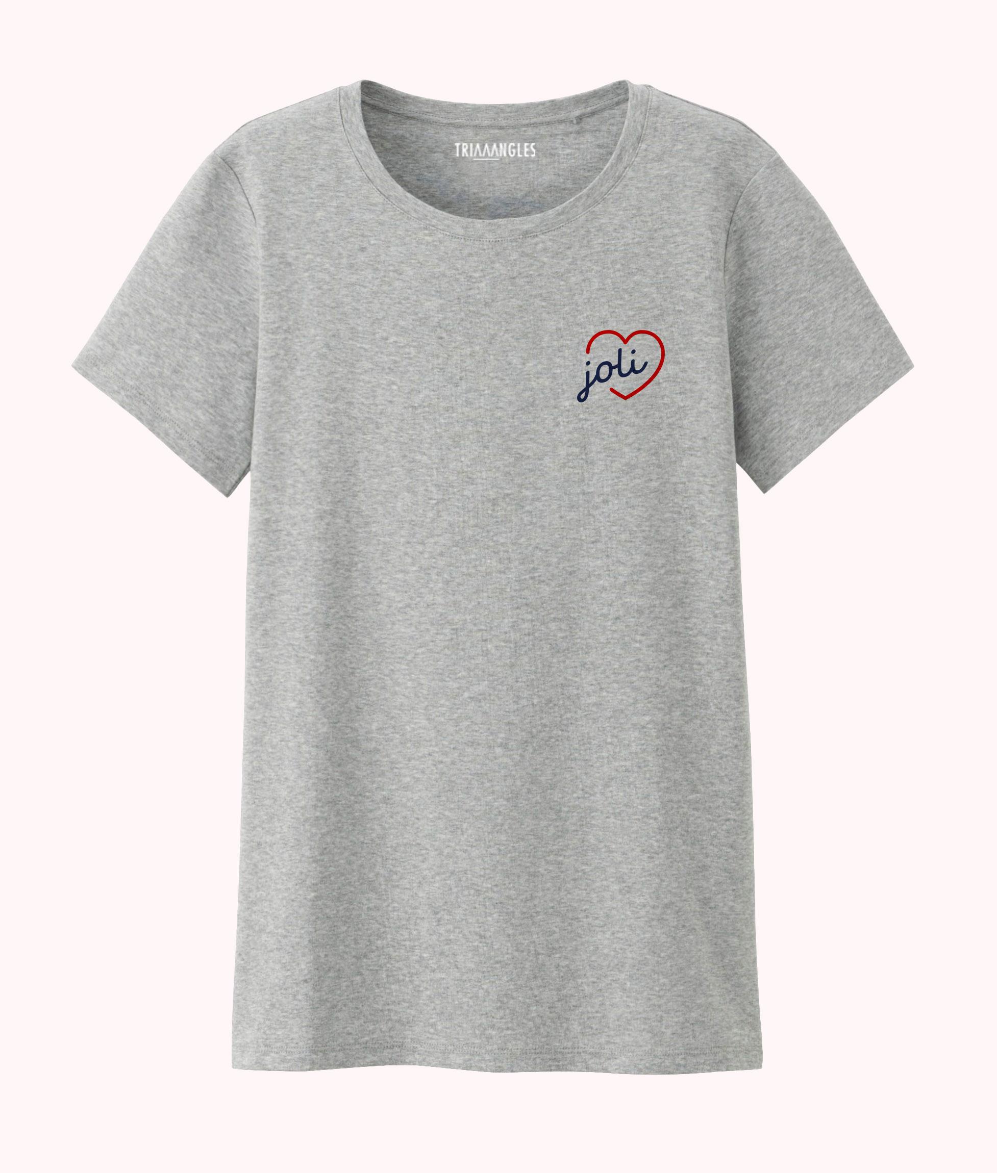 Tshirt gris chiné coupe femmeTriaaangles - Joli coeur -29€90