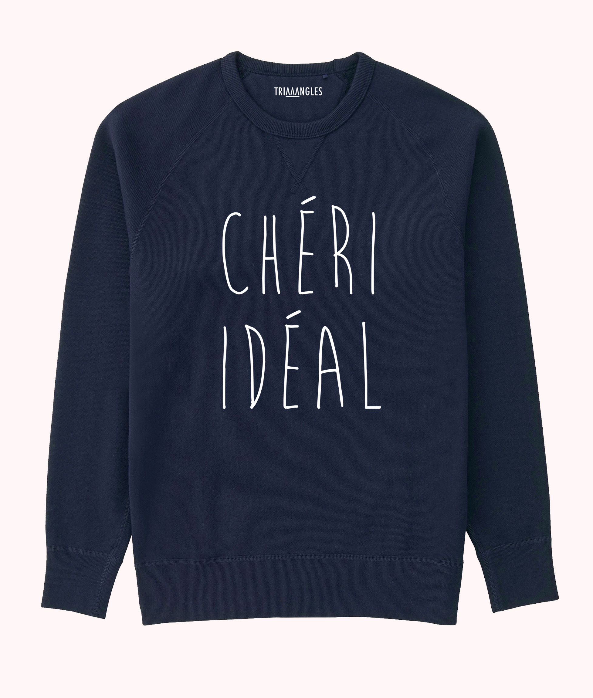 Sweat Navy Blue Triaaangles coupe homme - Chéri idéal - 49.90€