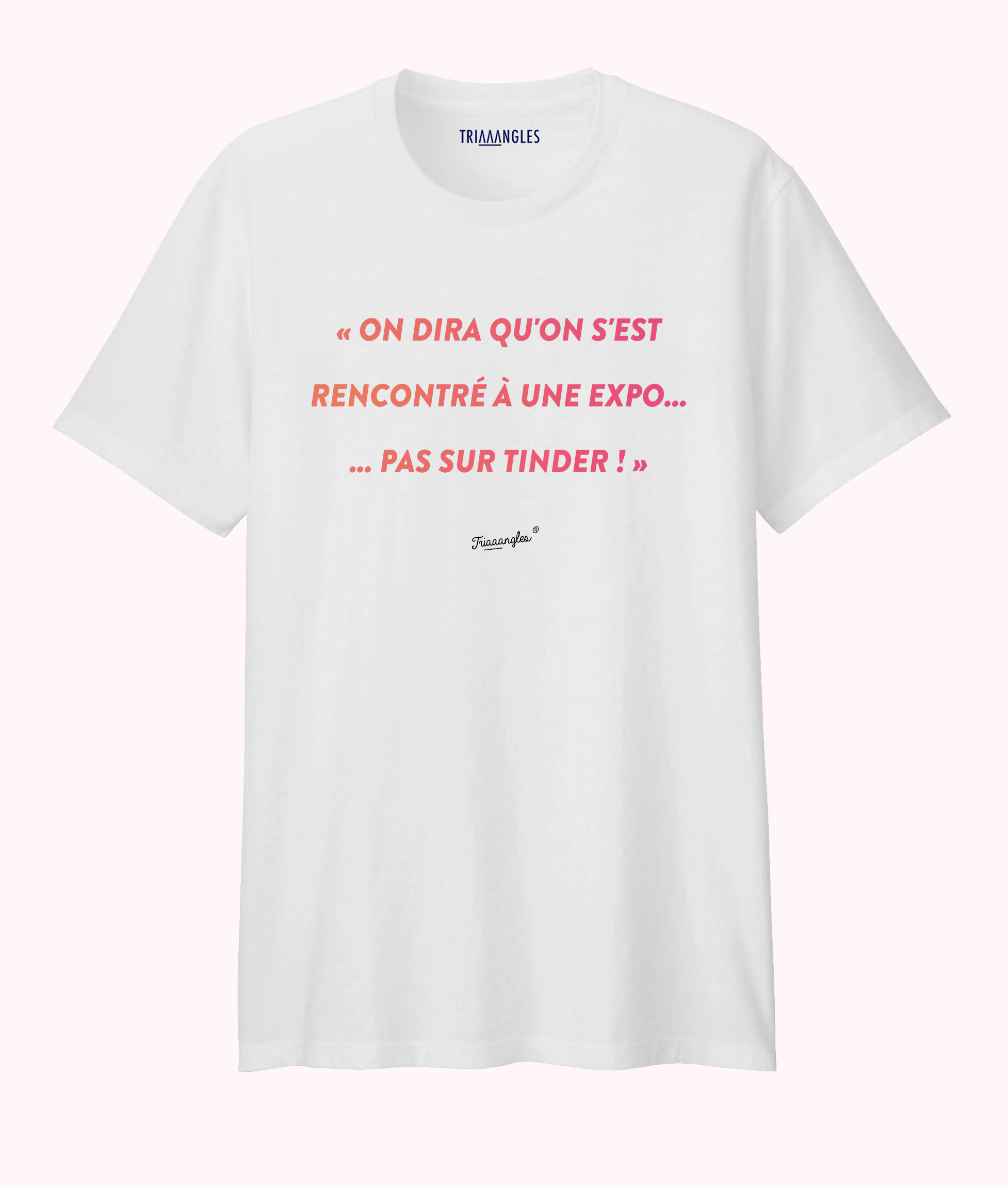 Tshirt blanc coupe homme Triaaangles - Tinder -29€90