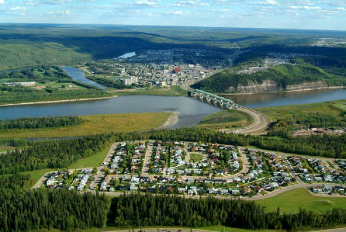 Aerial view of Fort McMurray.