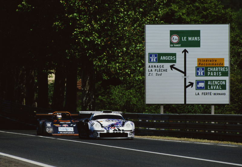 The advanced and expensive 911 GT1 was no match for its bastard brother.