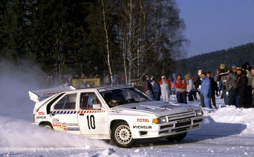 Jean-Claude Andruet and Annick Peuvergne, Rally Sweden 1986