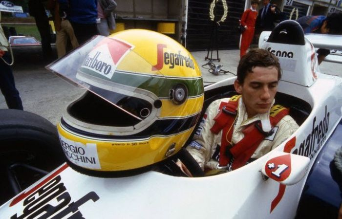 Ayrton Senna was Toleman's new and promising young weapon