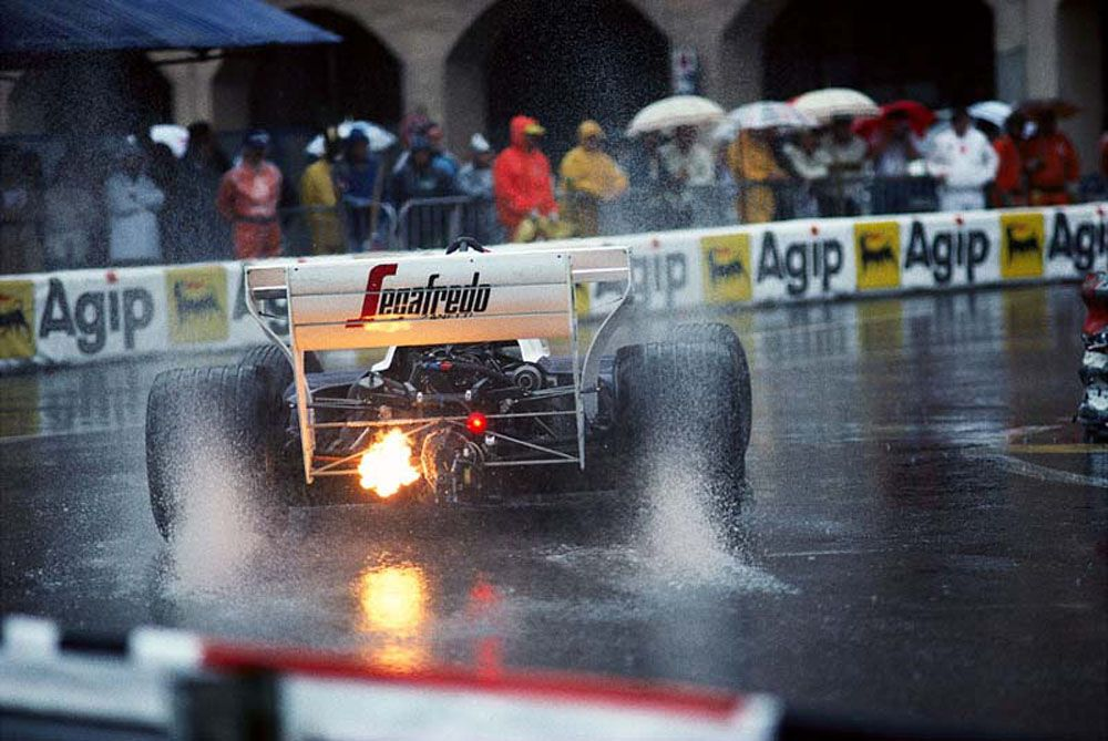 Senna was king in the washed out conditions at Monaco.