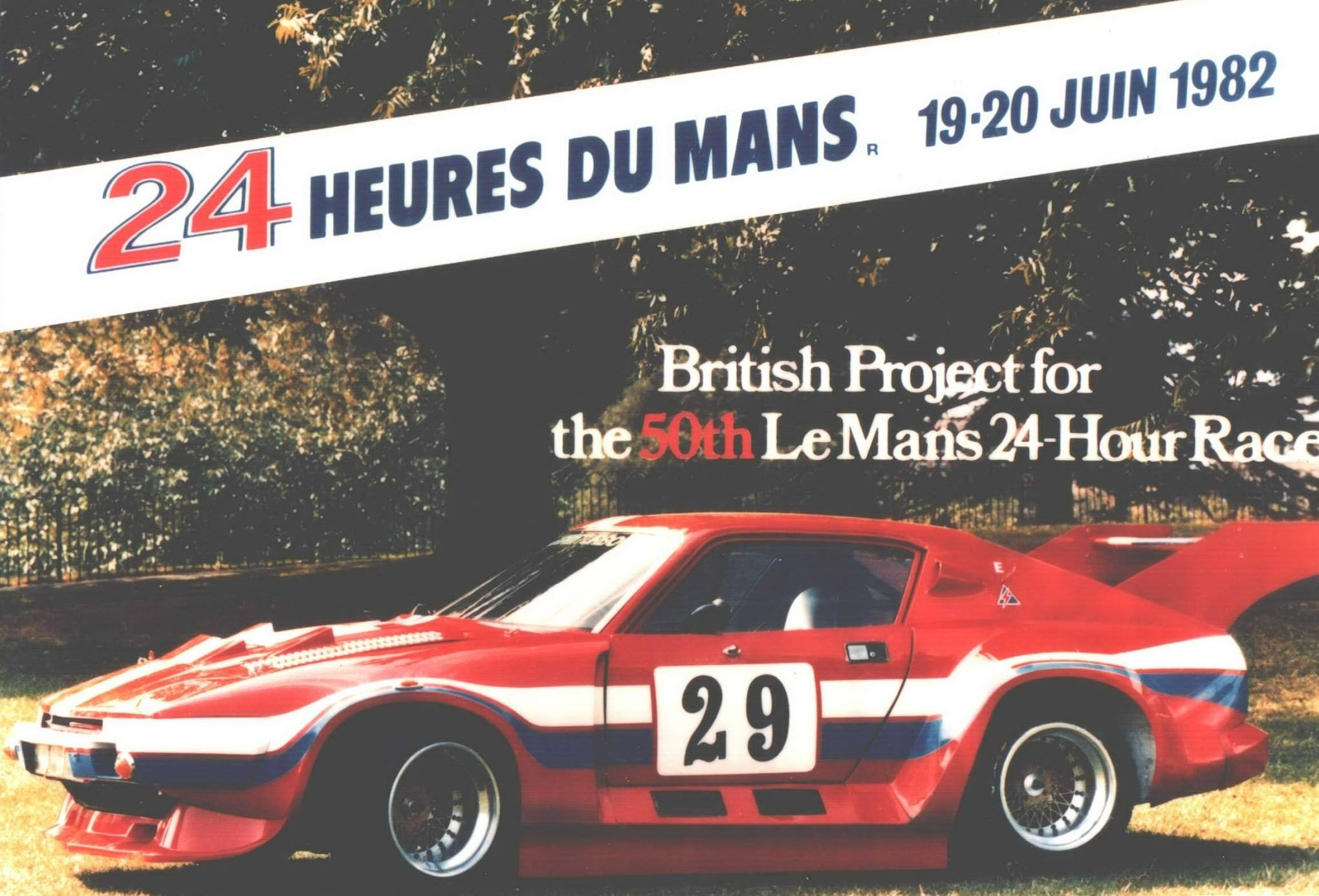 This cheery poster would be all to come of ADA's 1982 Le Mans bid.