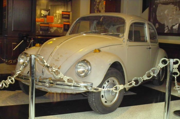 The notorious serial killer Ted Bundy apparently had an affinity for Volkswagen Bugs.