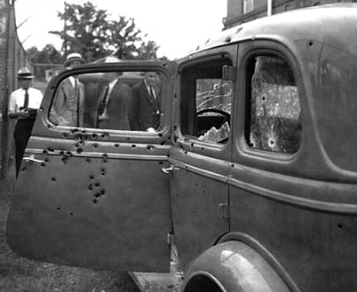The getaway car used by two of America's most notorious criminals of all time.