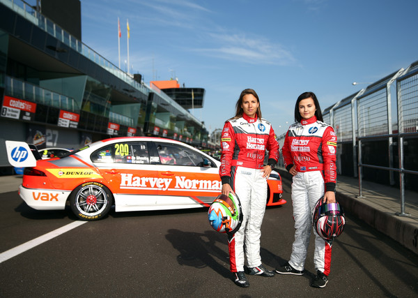 Dick Johnson thinks Simona De Silvestro (left) is the real deal. Could she replace Courtney at Walkinshaw