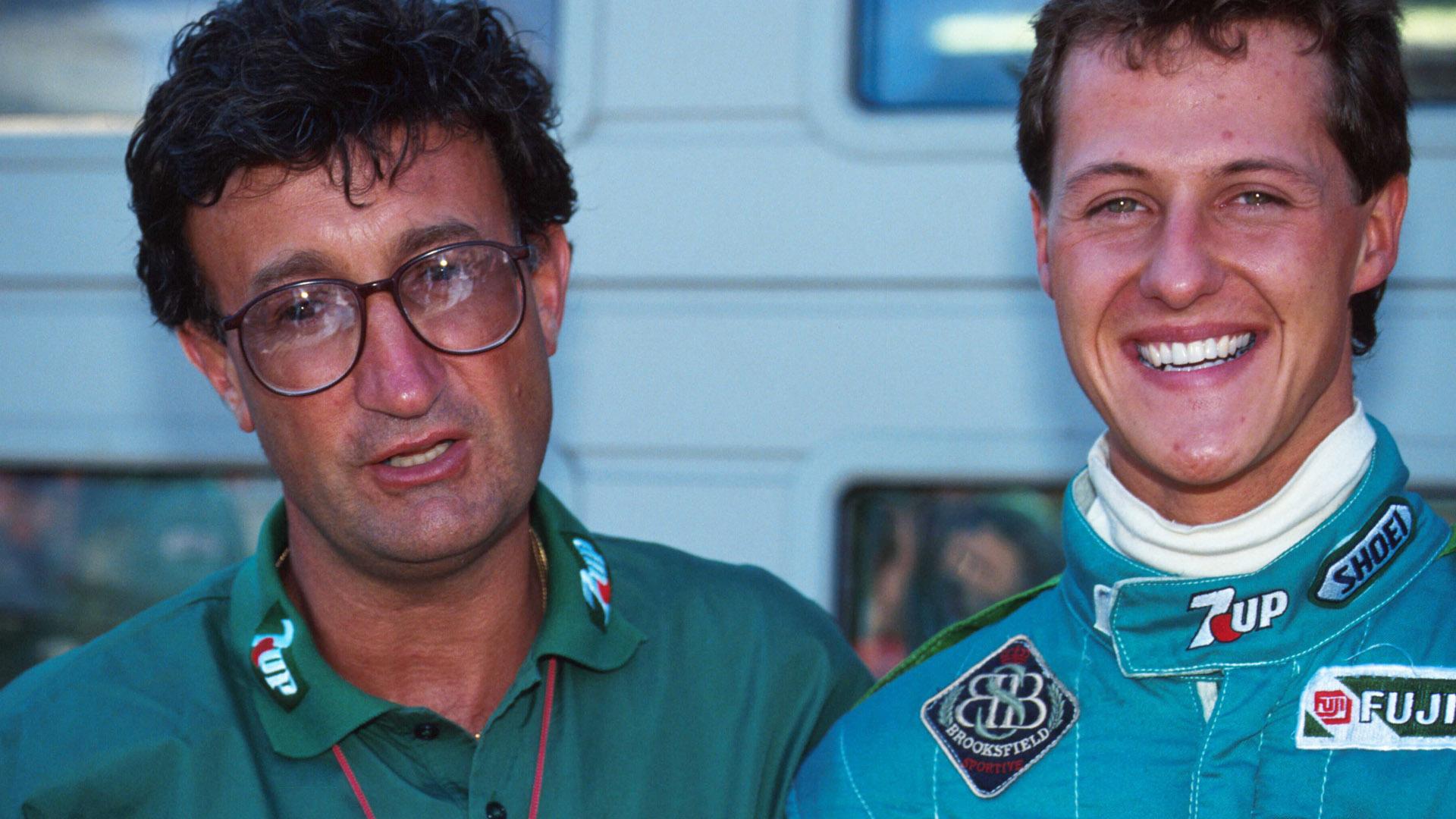 Eddie Jordan and Michael Schumacher in happier times.