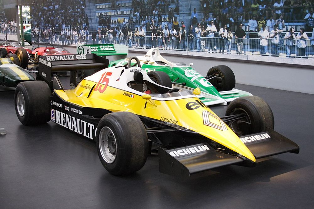 The 1983 RE40 of Alain Prost demonstrated the early success of Renault in the turbo era of the early 80's