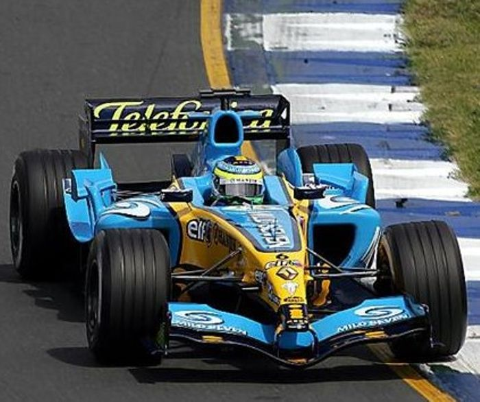 Fisichella on his way to victory at Albert Park