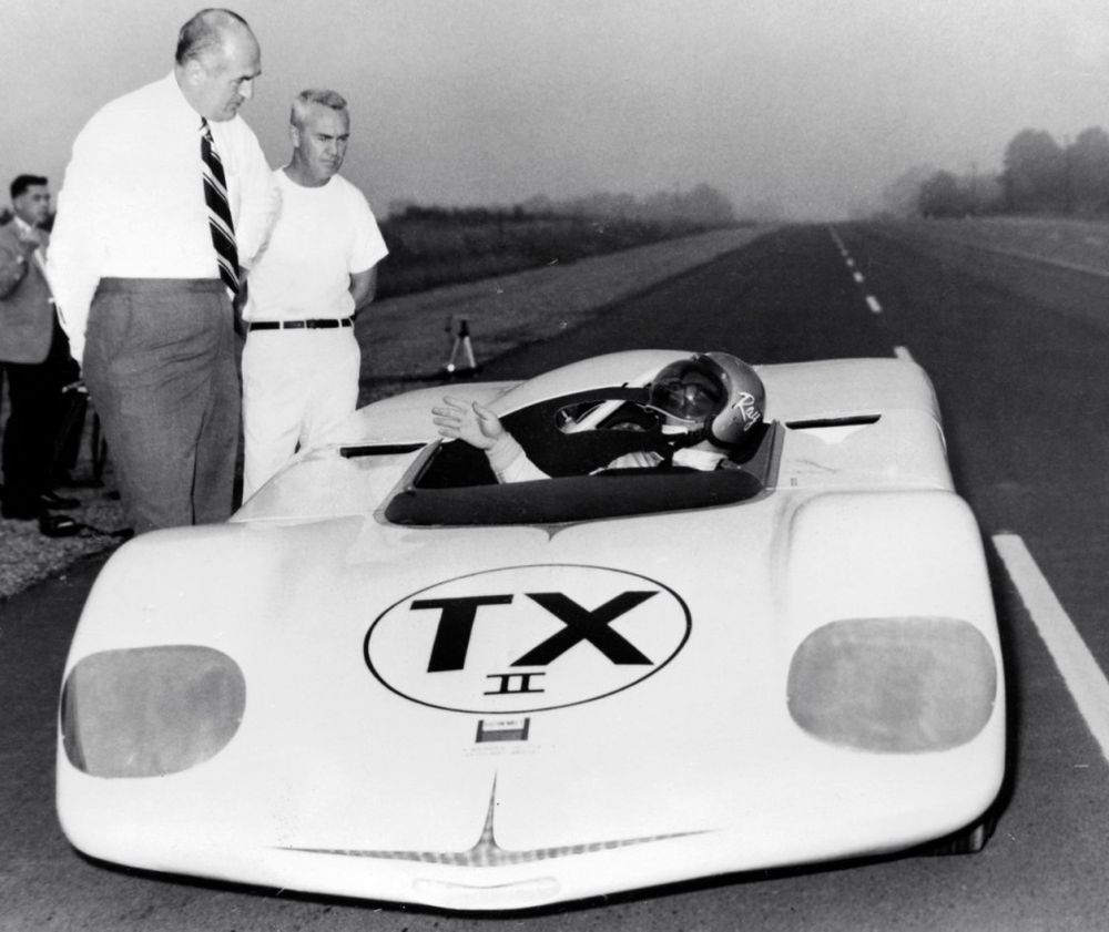 The TX Mark II land speed racer during testing.