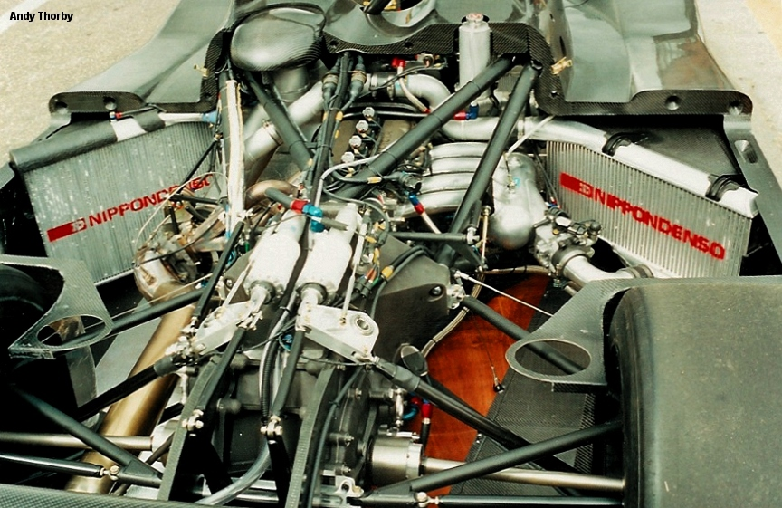 The 3S-GTM fit snugly into the LMP chassis.