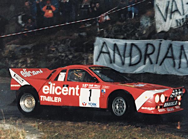 BMS Scuderia Italia's Lancia 037, used from 1984-1986 in the Italian Rally Championship.
