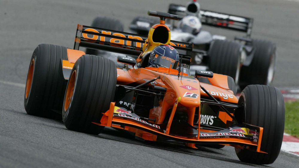 Frentzen on his way to get the first point of the season in Spain