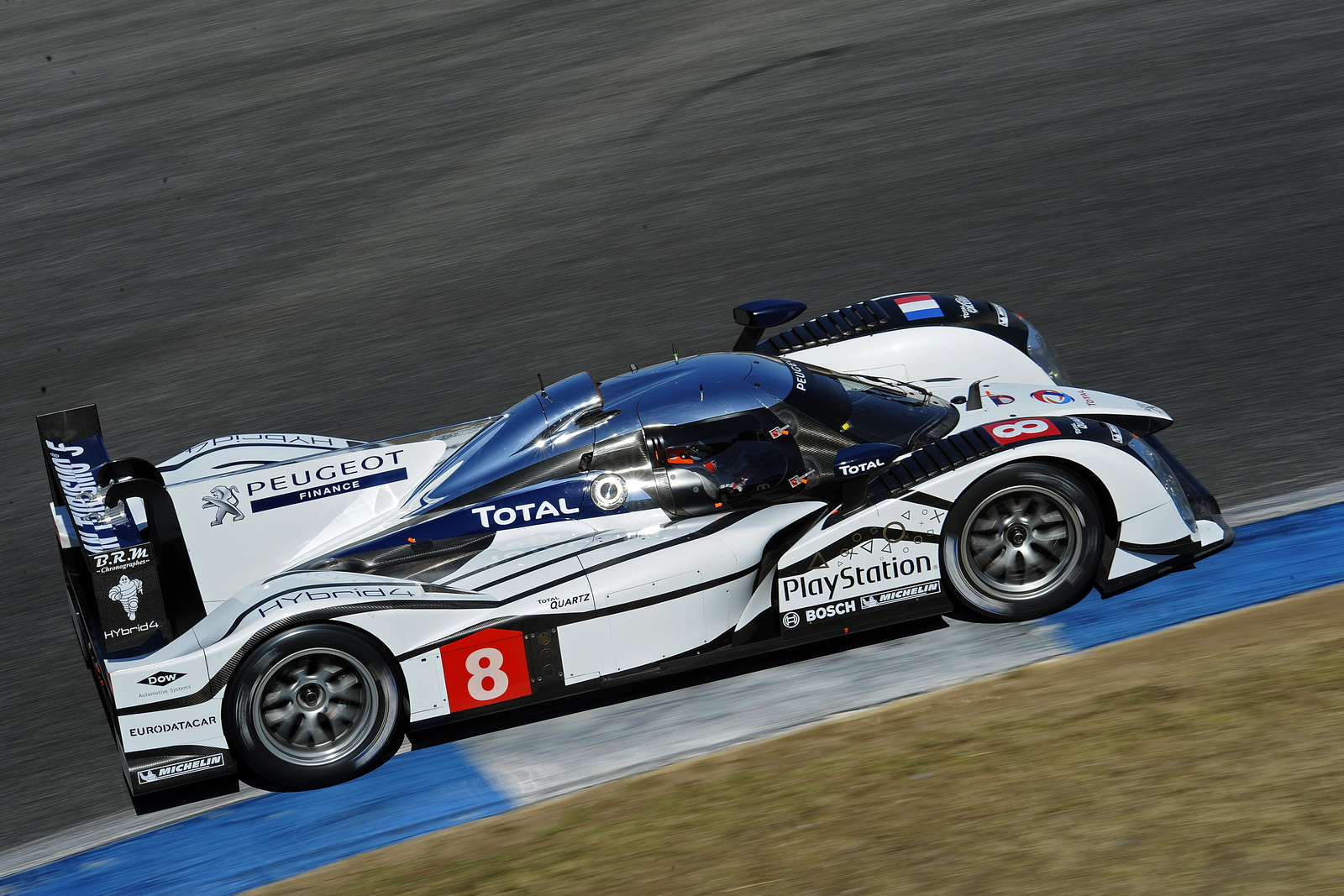 The car during its first track test at Estoril in Portugal during October 2011.