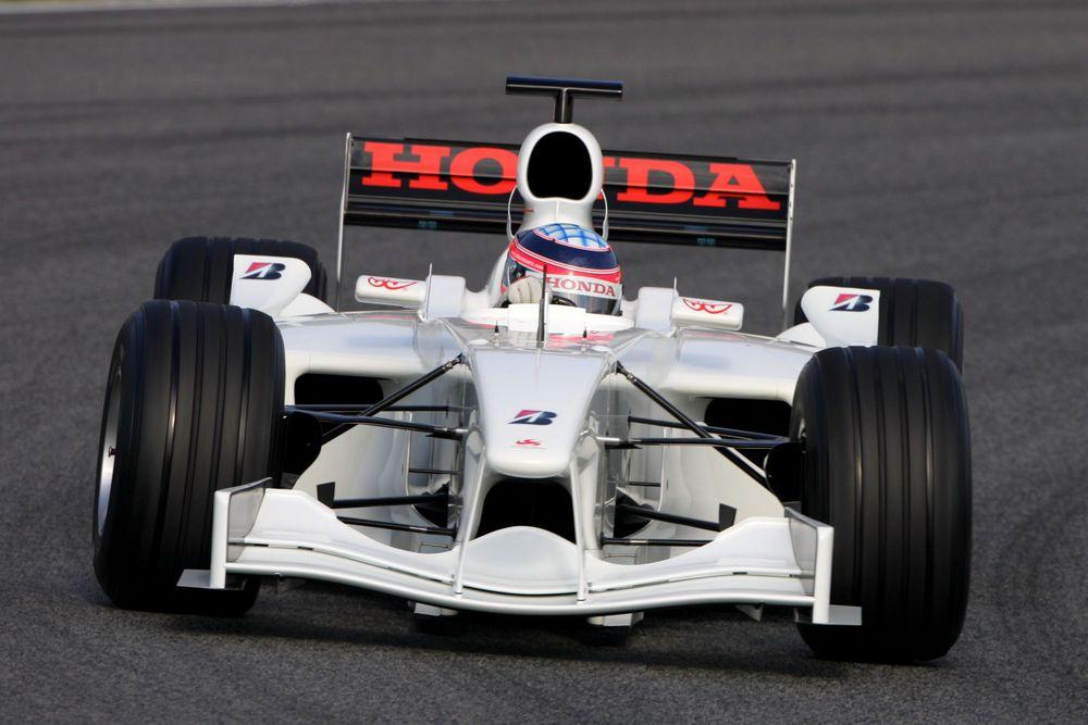 Sato testings the car in Barcelona for the pre-season testings.