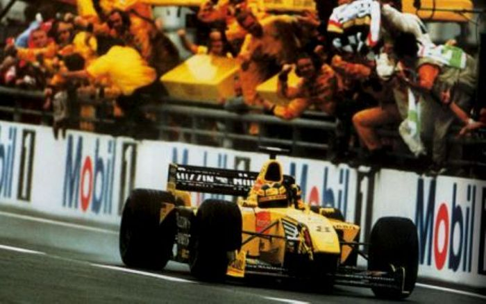 Frentzen delivers his and Jordan second victory in F1