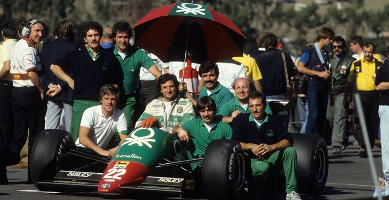Ricardo Patrese and his team.