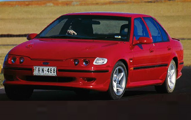 The EF Ford Falcon XR6 was faster than a HSV Clubsport