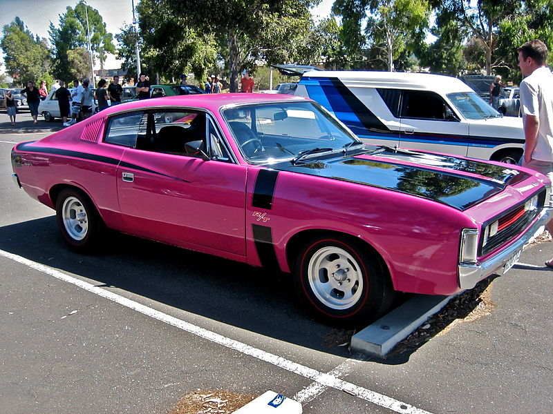 The Chrysler Valiant Charger was smaller and cheaper than the Valiant sedan