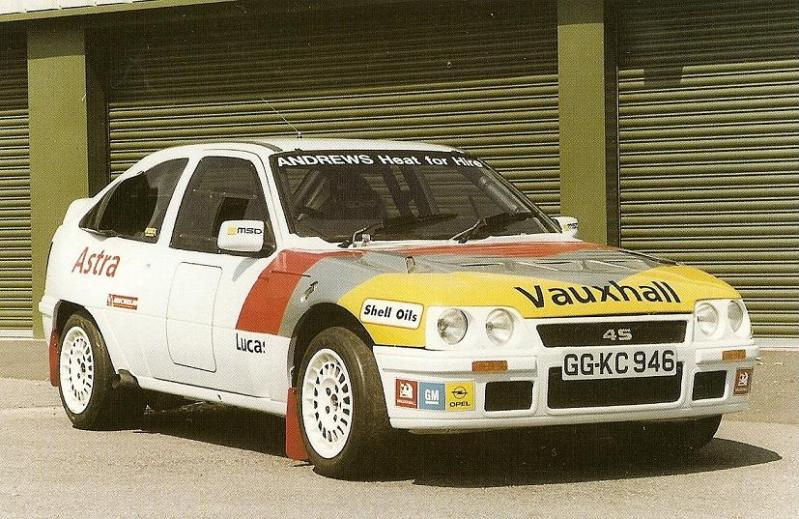The supercharged prototype, Vauxhall Astra 4S