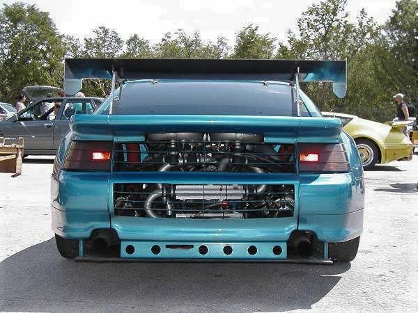 The PRV V6 hung all the way over the rear wheels.