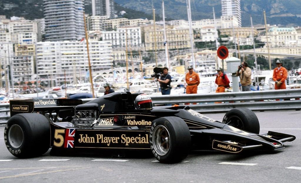 Mario Andretti and the groundbreaking Lotus 78, 1977 Monaco Grand Prix.