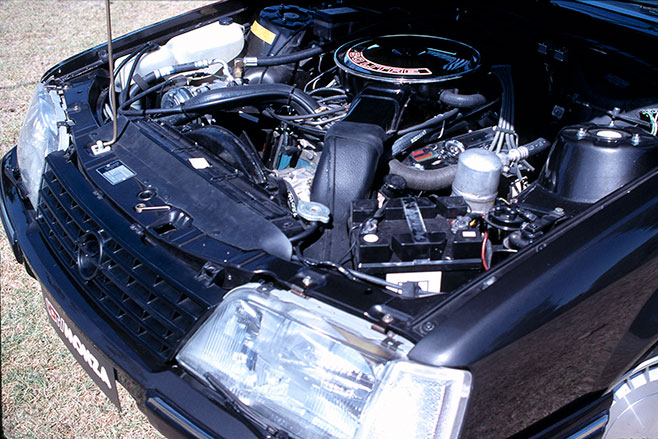 HDT had no trouble fitting the Holden V8 into the Monza