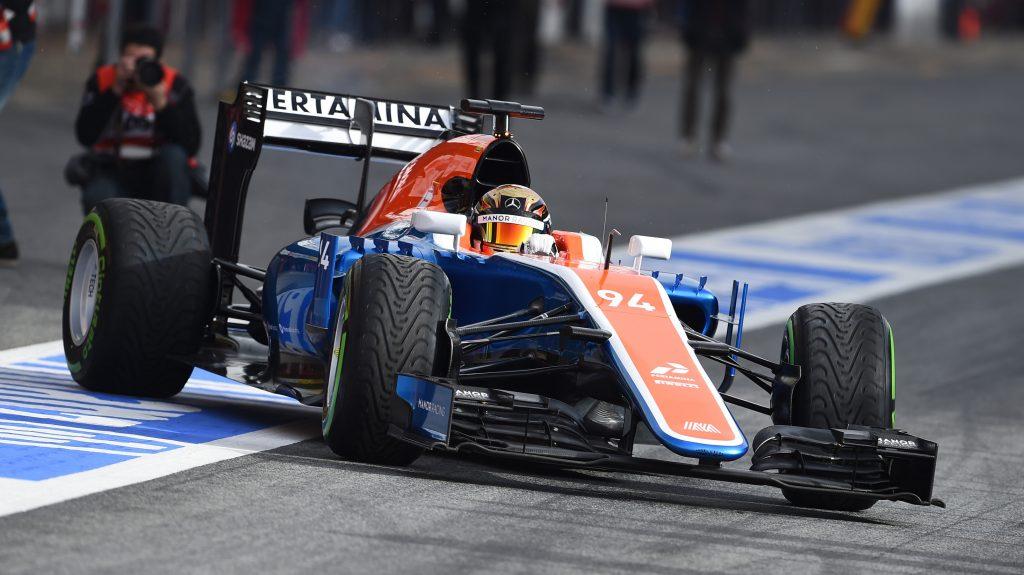 Pascal Wehrlein testings the car at Barcelona during the pre-season test
