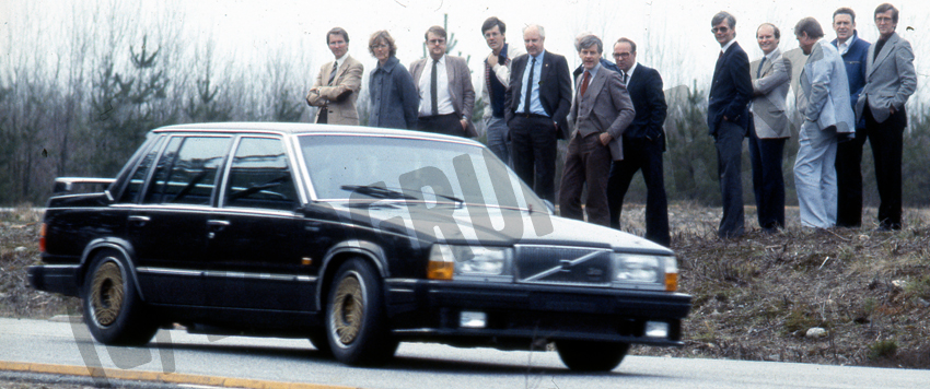 Eje Elge testing the 760 Turbo in front of Volvo's top management.