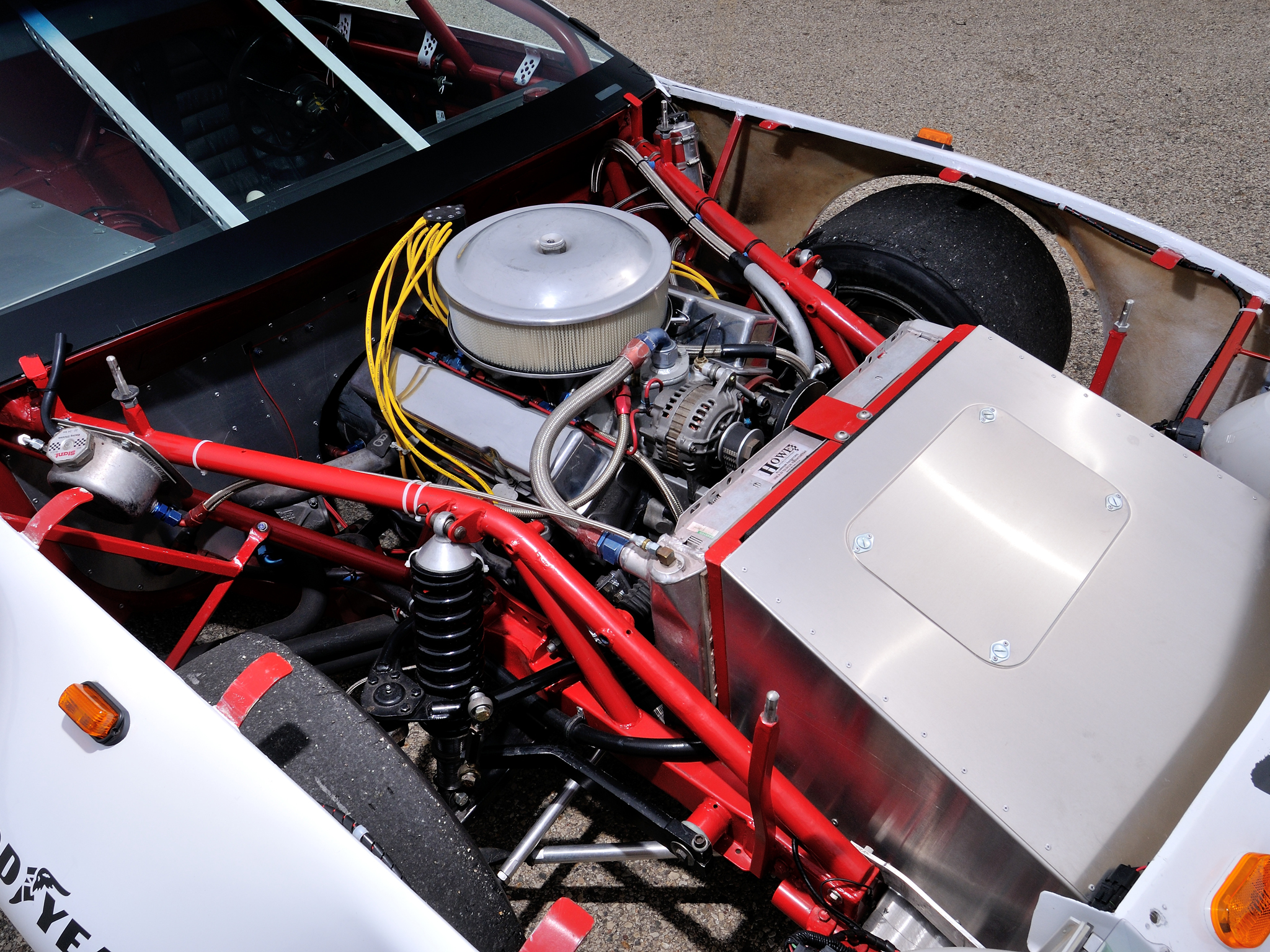 The stock car-like Camaro was powered by good old American V8 muscle.