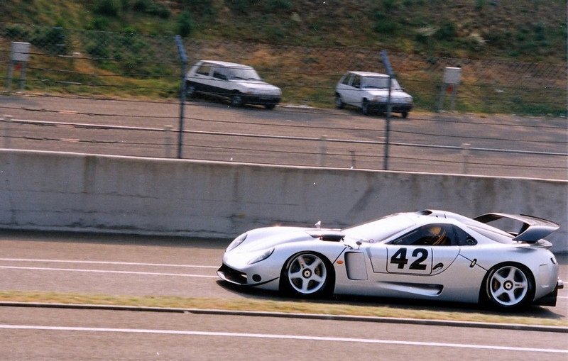 Testing at Le Mans, 1996.