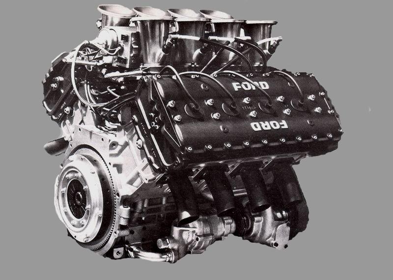 The legendary Cosworth DFV V8.