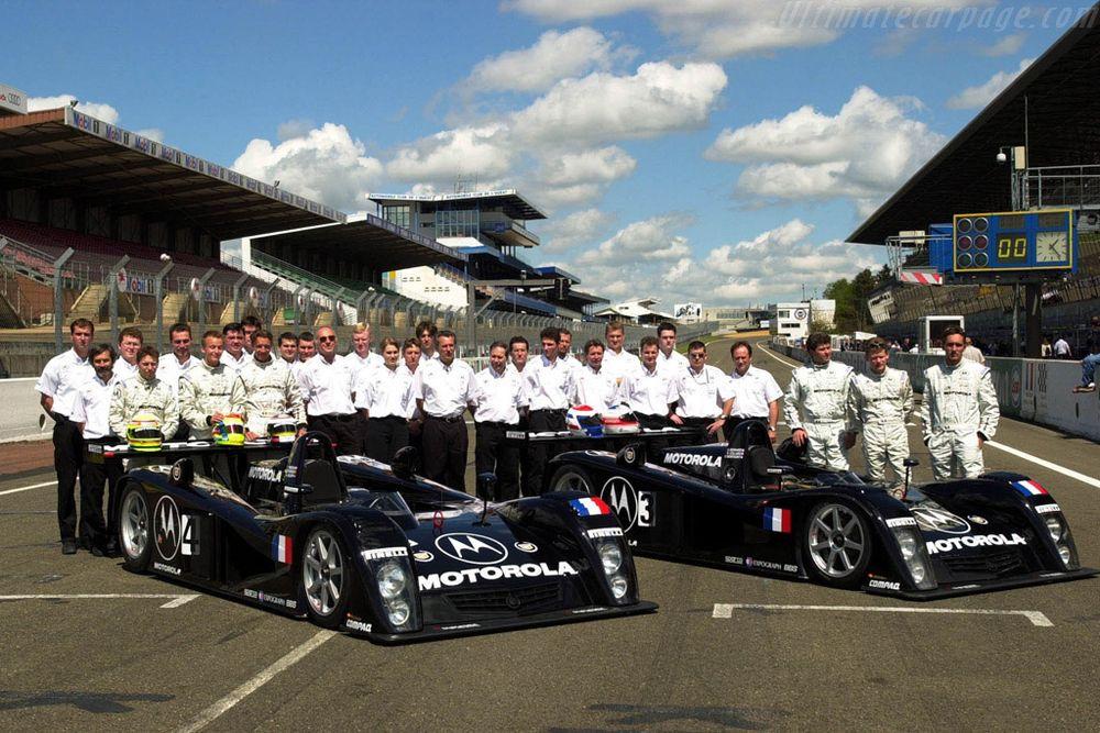 Team DAMS. From left to right: Christophe Tinseau, Kirstian Kolby, Marc Goossens, Eric Bernard, Emmanuel Collard, Franck Montagny.