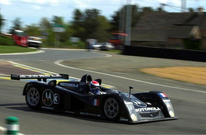 Eric Bernard's car was the fastest Cadillac around, Le Mans 2000.