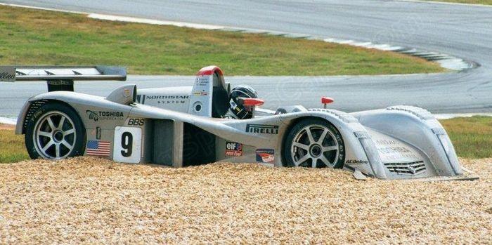 Butch Leitzinger contemplating his sins, Petit Le Mans 2000.