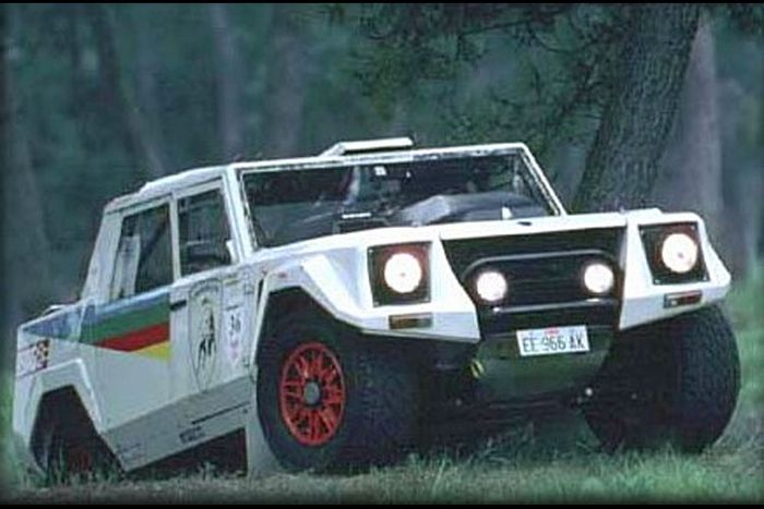 The LM002 Rally was the first official factory Lamborghini racecar.