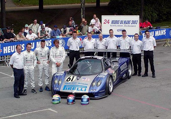 Team Carsport Modena. From left to right: Toine Hezemans, Mike Hezemans, Anthony Kumpen and David Hart.