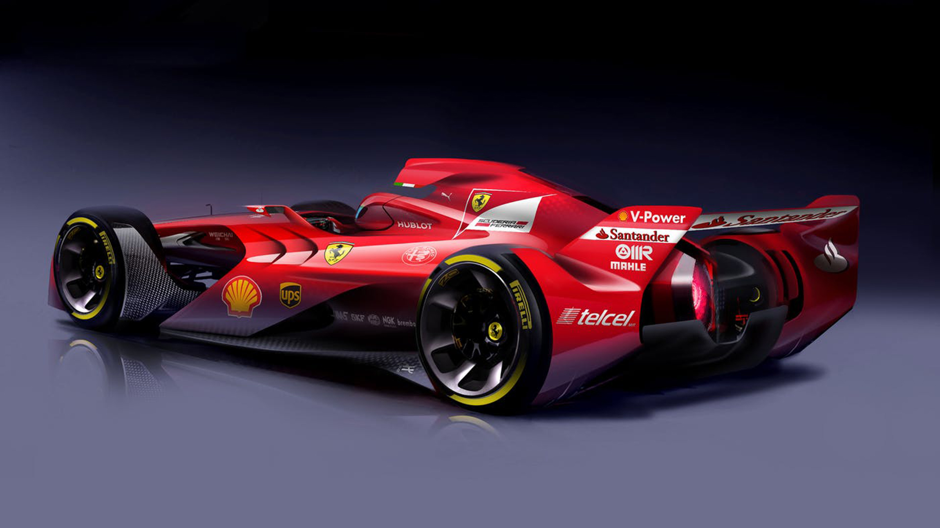 Ferrari's concept looks extreme but the most feasible to achieve out of the four concepts.