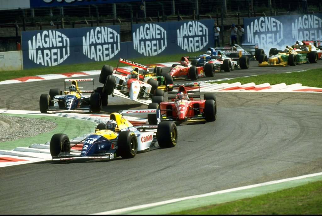 Senna's hot-headedness catapulted him out of the race, Monza 1993.
