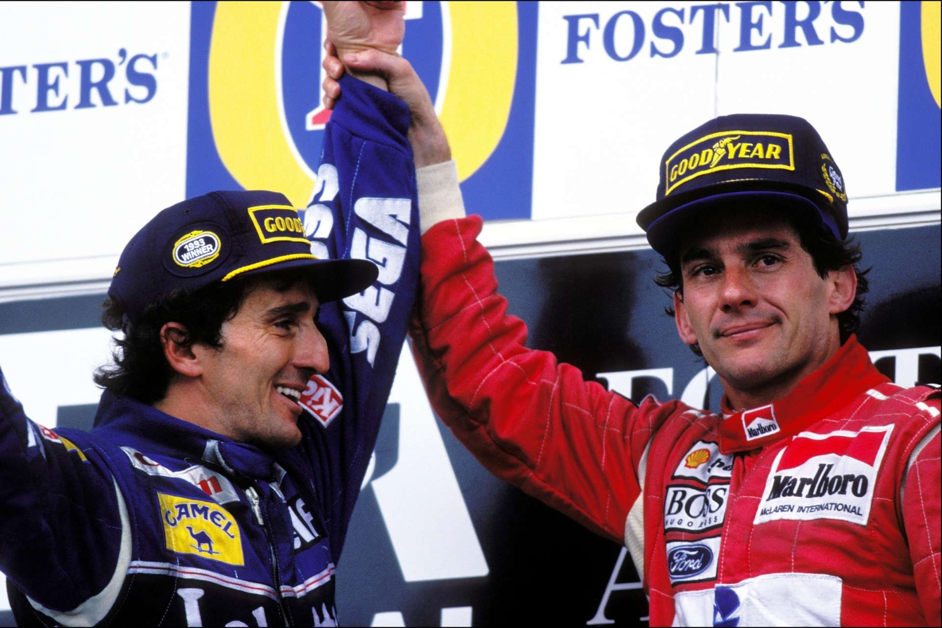 Ayrton Senna famously reconciled with long-time rival Alain Prost on the podium in Adelaide.